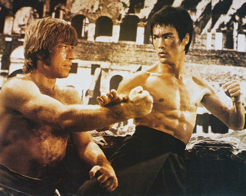 bruce lee vs chuck noris